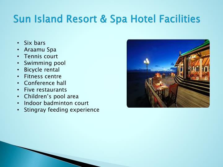 Sun Island Resort & Spa Hotel Facilities