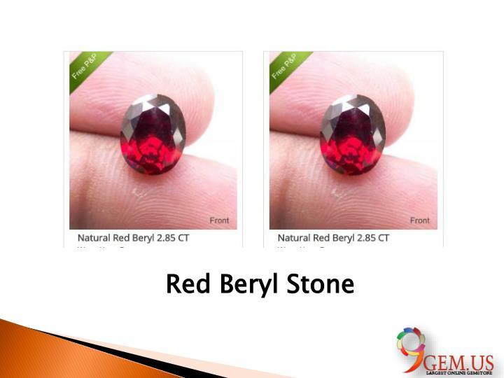 Red Beryl Stone