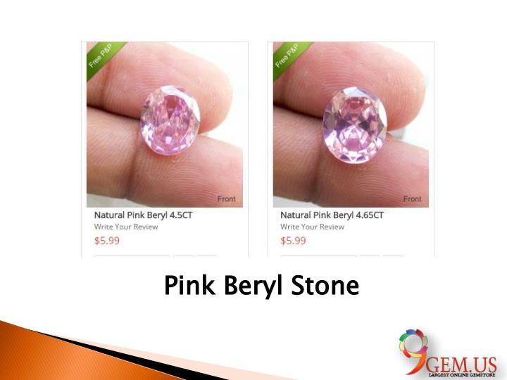 Pink Beryl Stone