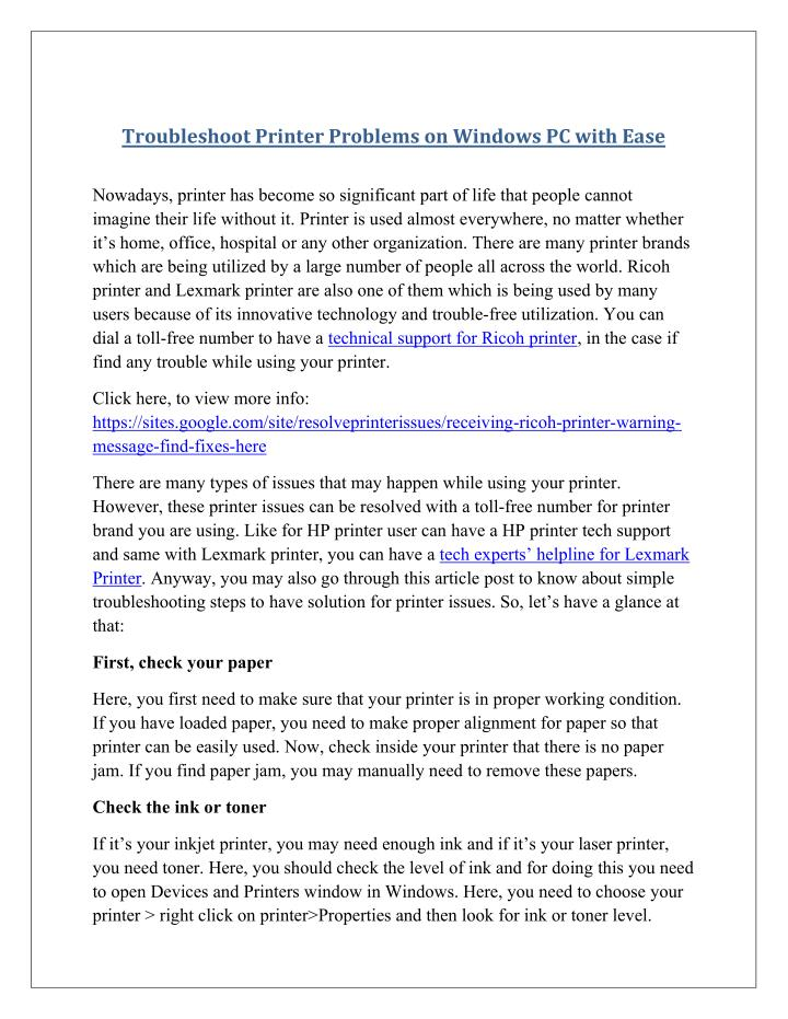 Troubleshoot Printer Problems on Windows PC with Ease