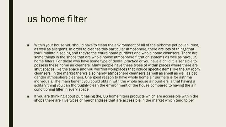 Us home filter