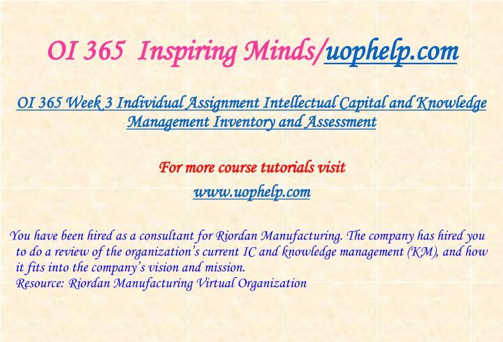 OI 365  Inspiring Minds/