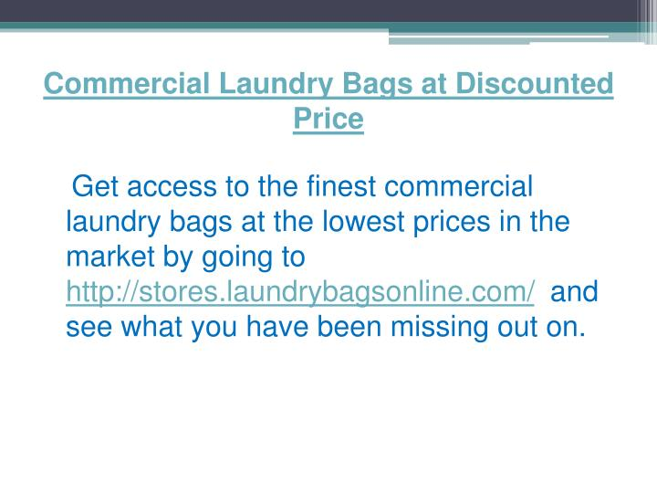 Commercial Laundry Bags at Discounted Price