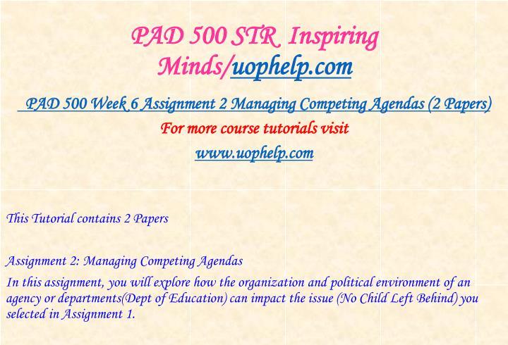 PAD 500 STR  Inspiring Minds/