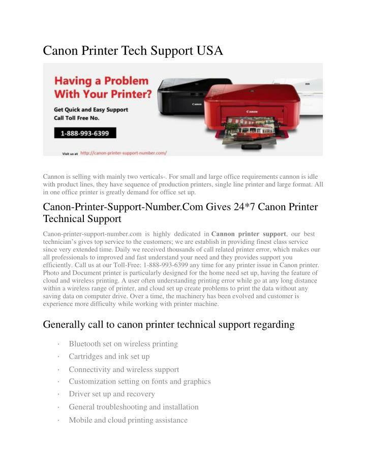 Canon Printer Tech Support USA