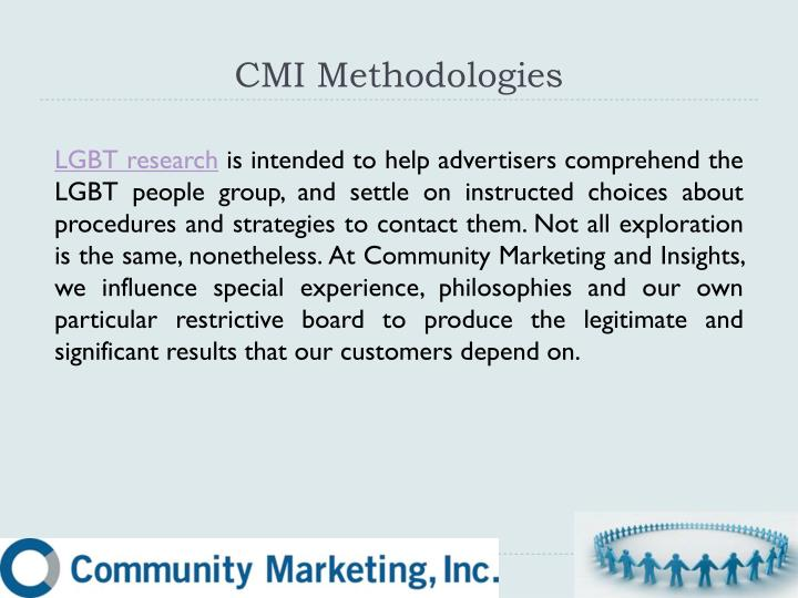 CMI Methodologies