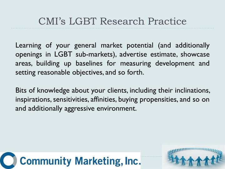 CMI's LGBT Research Practice
