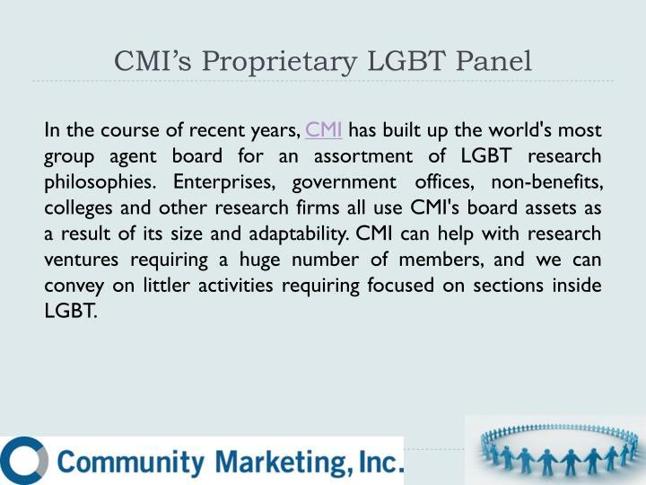CMI's Proprietary LGBT Panel