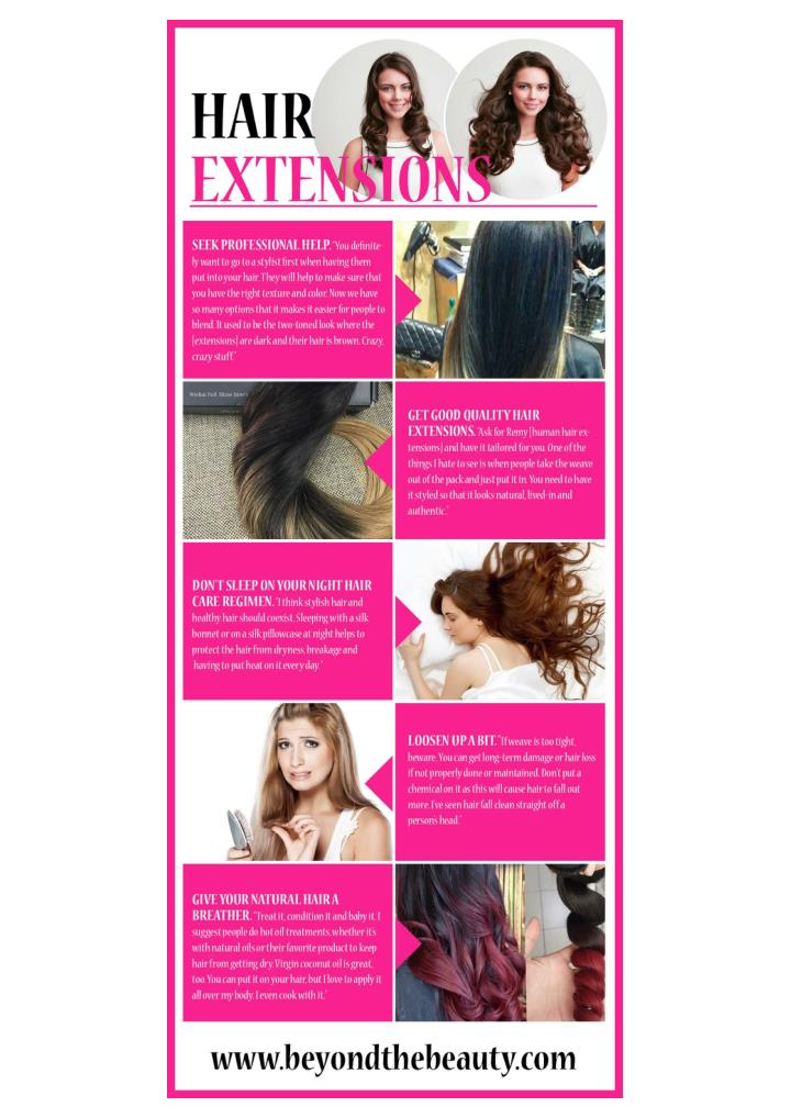 Real hair extensions and hair straighteners