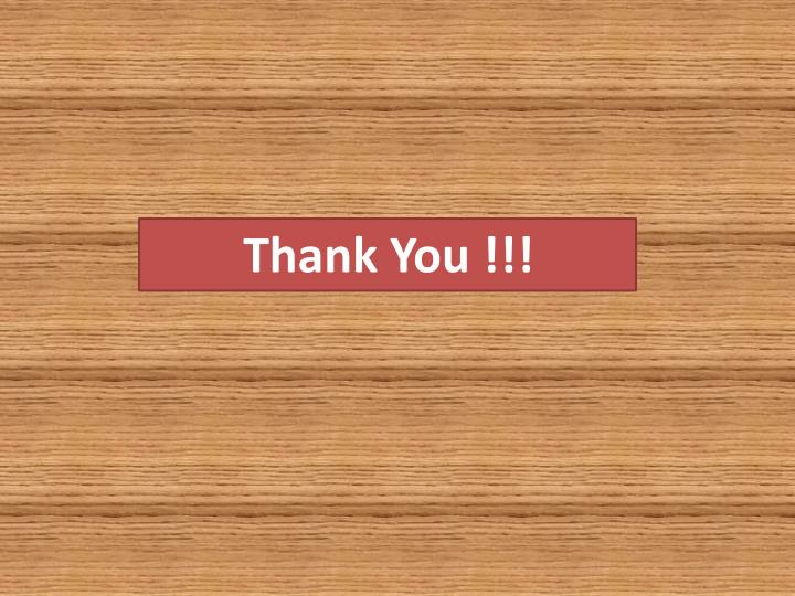 Thank You !!!