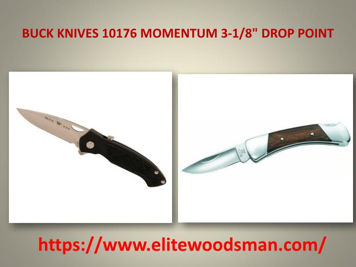 "BUCK KNIVES 10176 MOMENTUM 3-1/8"" DROP POINT"