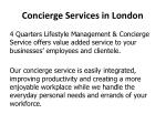 concierge services in london