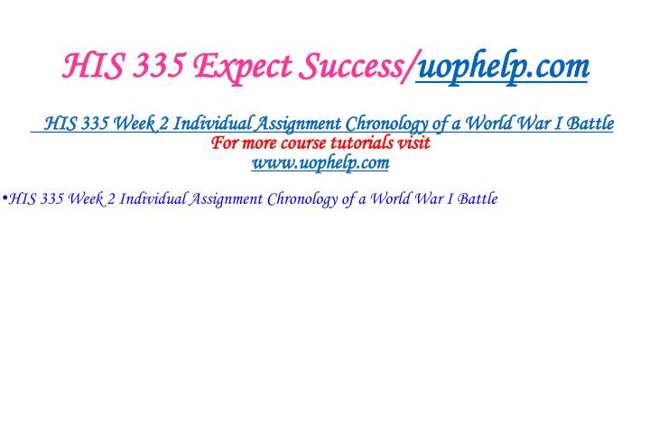 His 335 expect success uophelp com2
