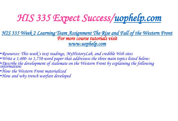 HIS 335 Expect Success/