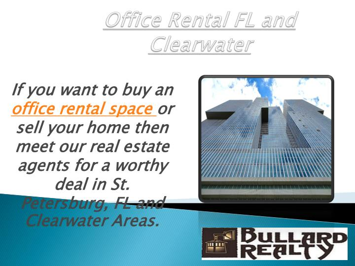 Office rental fl and clearwater