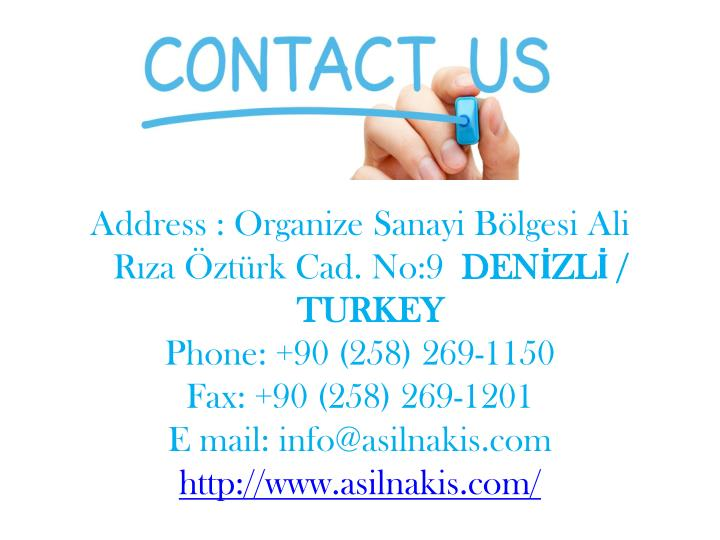 Address : Organize