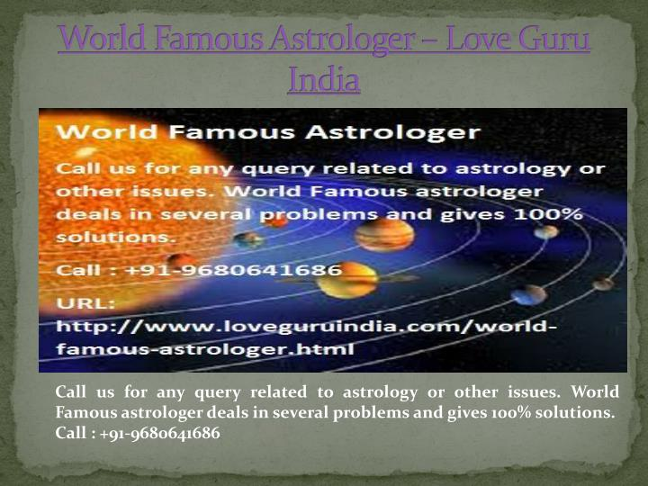 World famous astrologer love guru india
