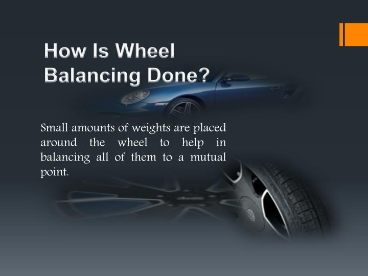 How Is Wheel Balancing Done?