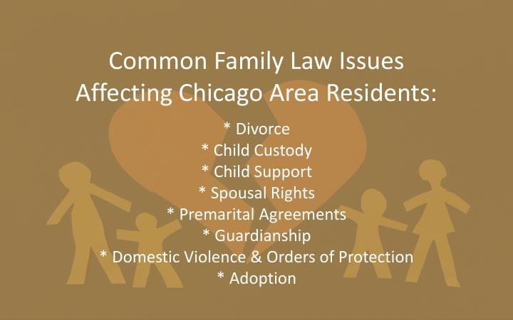Common Family Law Issues