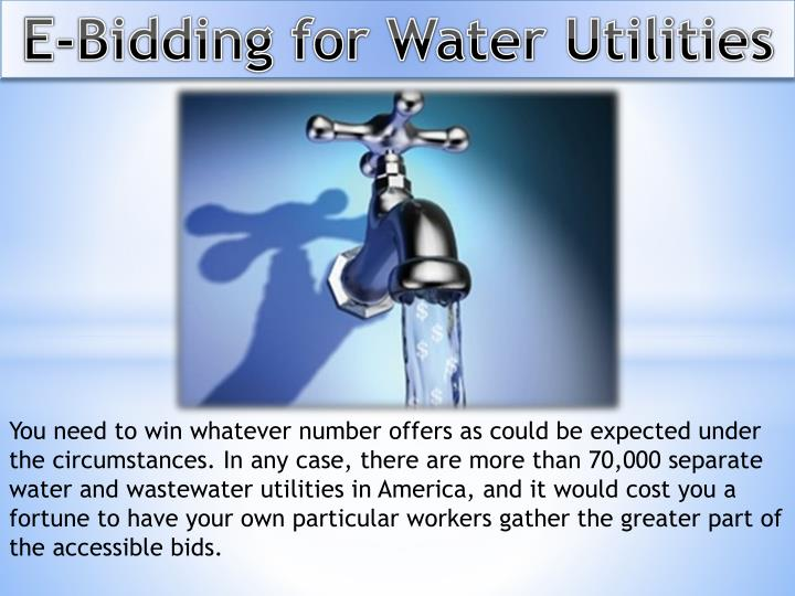 E-Bidding for Water Utilities