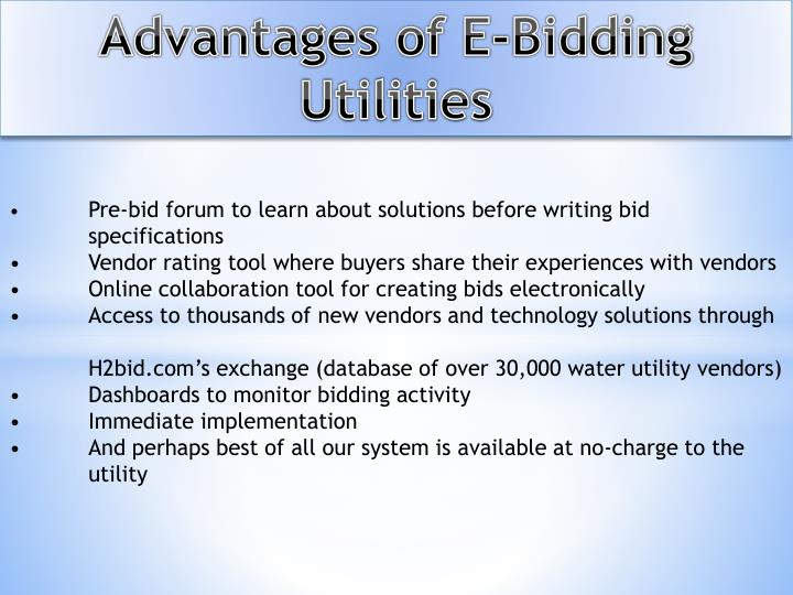Advantages of E-Bidding Utilities