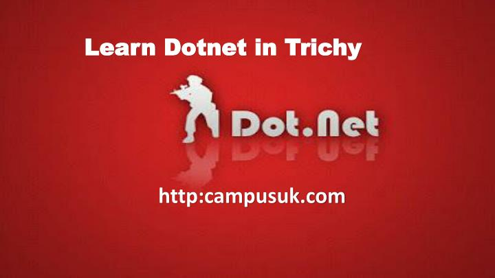 Learn dotnet in trichy