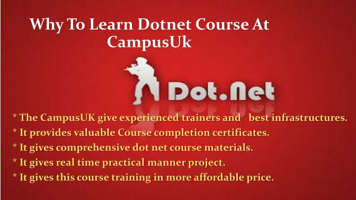 Why To Learn Dotnet Course At CampusUk