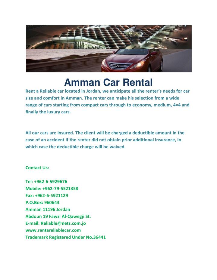 Amman Car Rental