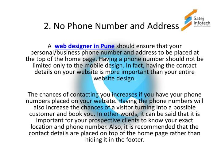 2. No Phone Number