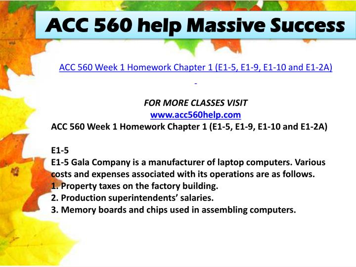 ACC 560 help Massive Success