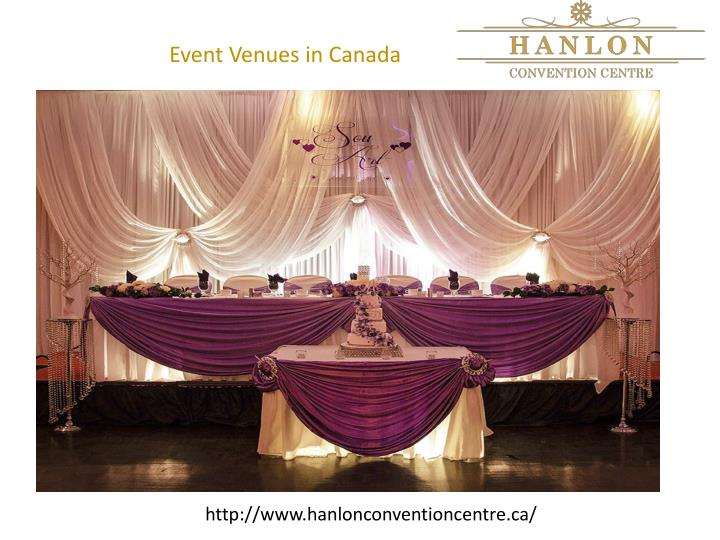 Event Venues in Canada
