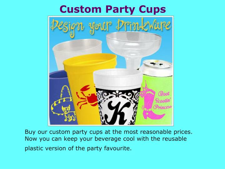 Custom Party Cups