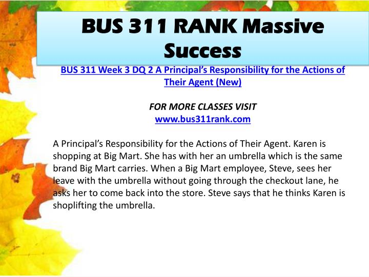 BUS 311 RANK Massive