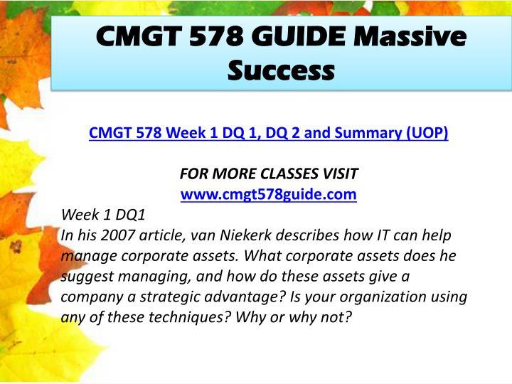 CMGT 578 GUIDE Massive