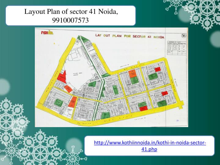 Layout Plan of sector 41 Noida,