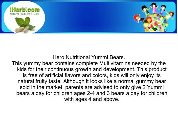 Hero Nutritional Yummi Bears.