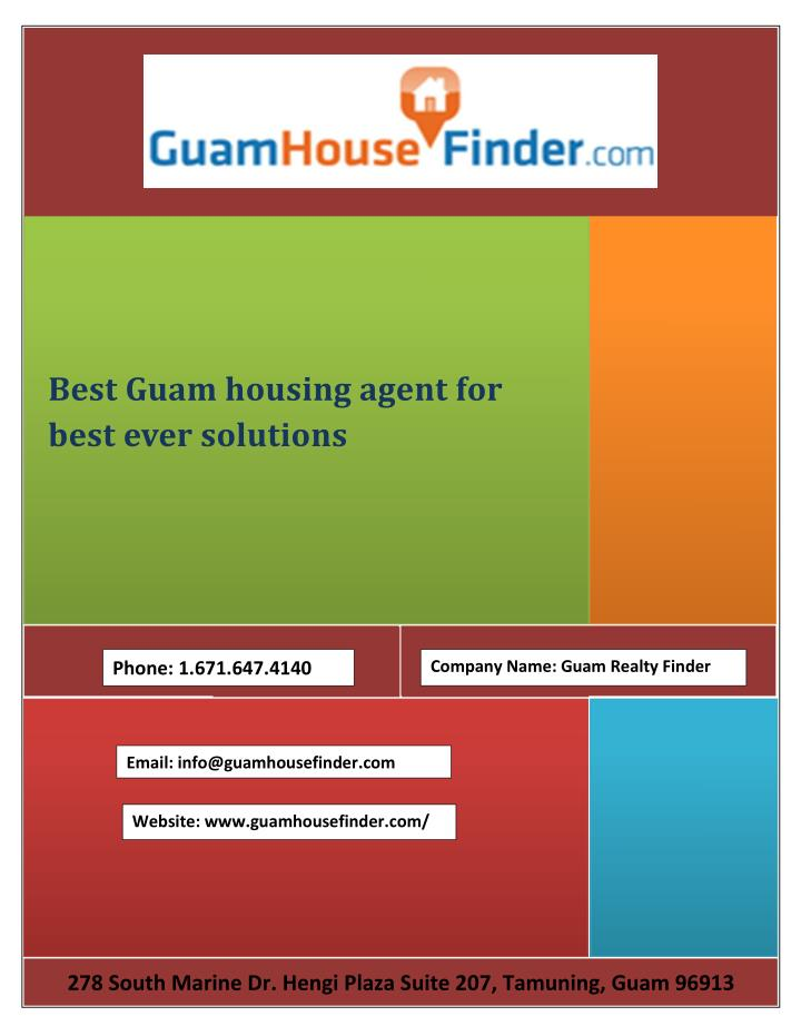 Best Guam housing agent for