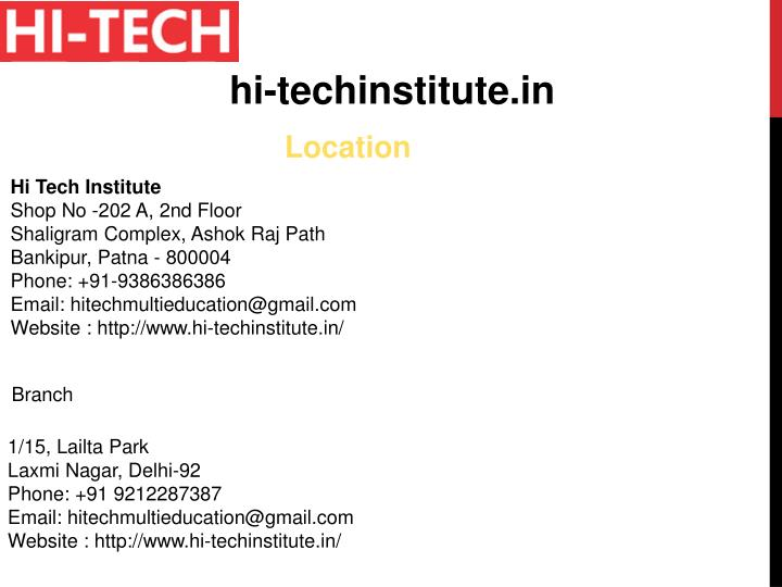 hi-techinstitute.in