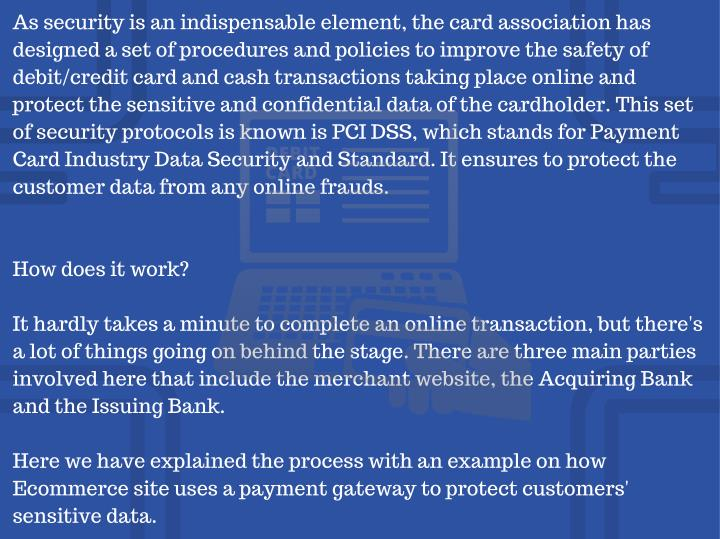 As security is an indispensable element, the card association has