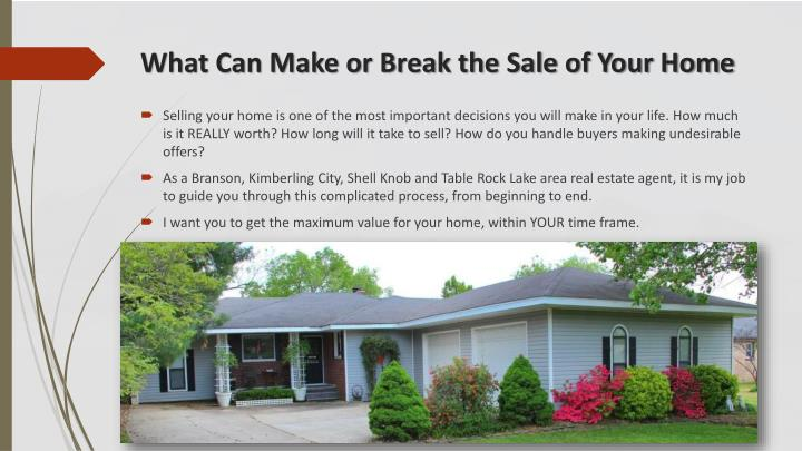 What Can Make or Break the Sale of Your Home