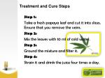 treatment and cure steps