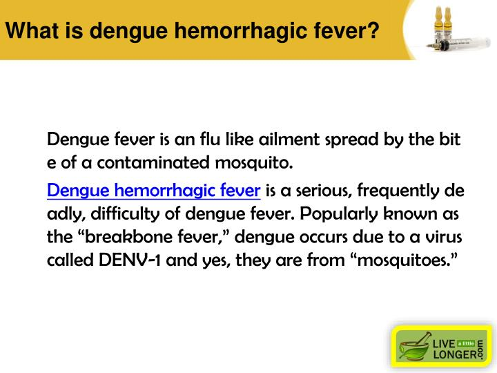 What is dengue hemorrhagic fever?