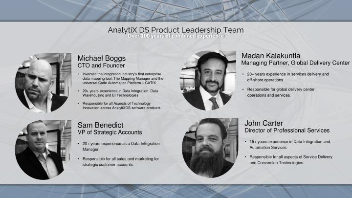 AnalytiX DS Product Leadership Team