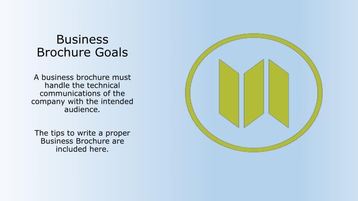 Business Brochure Goals