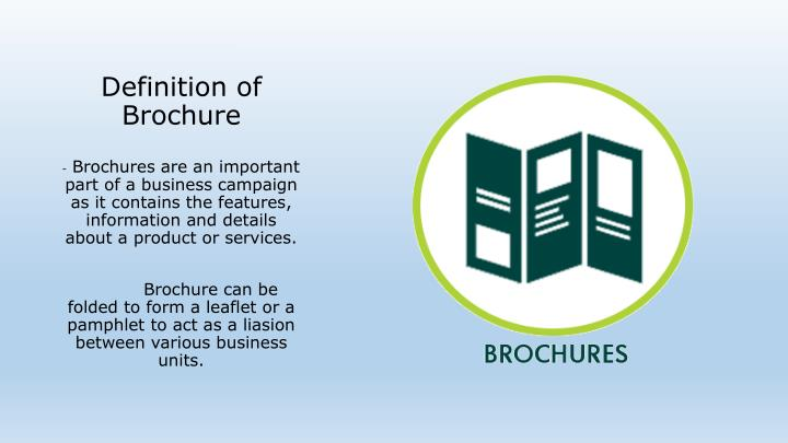 Definition of brochure