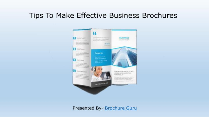Tips to make effective business brochures