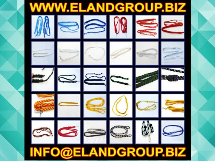 Military uniform lanyard braided whistle cord supplier