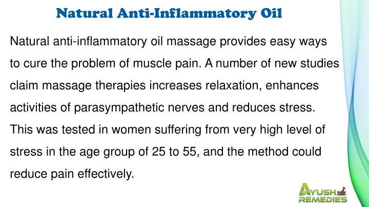 Natural Anti-Inflammatory Oil