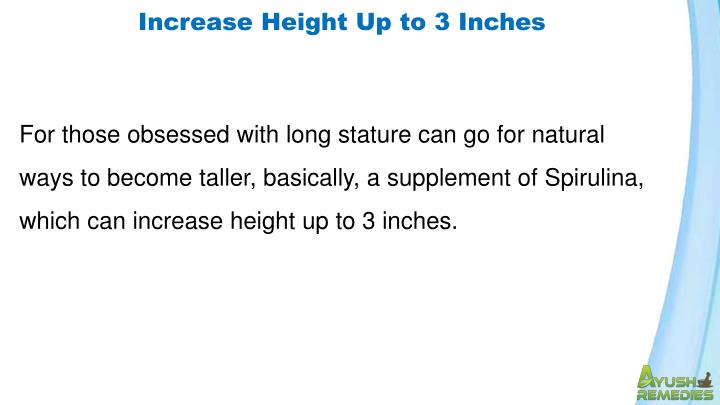 Increase Height Up to 3 Inches