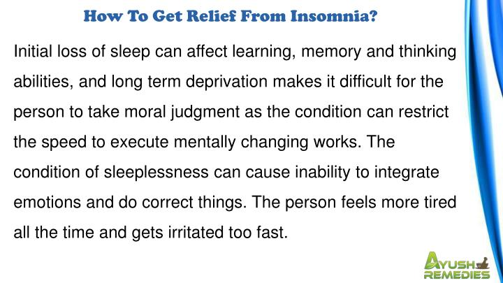 How To Get Relief From Insomnia?